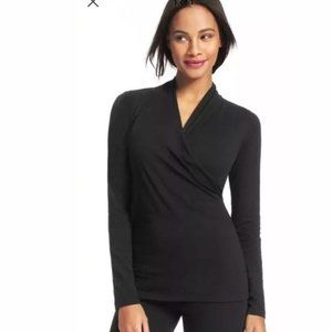 Cabi #3064 Cross Front Faux Wrap Tee